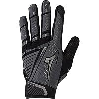 Mizuno B-303 Adult Baseball Batting Glove, Black-Charcoal, Medium