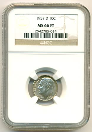 2004-P ROOSEVELT DIME NGC MS66 FT