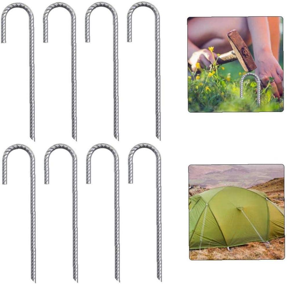 Tente Tente Stakes sol Metal Stakes Pegs Jardin Pegs Pile au sol fixe 8PCS ext/érieure d/ét/é