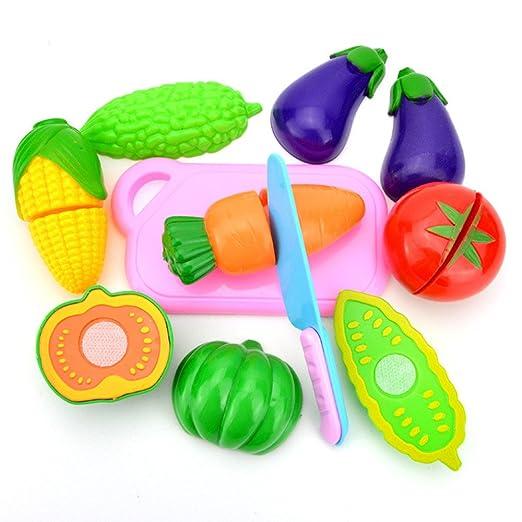 CHENWENEED 2019 Juguetes niños, Niños Pretenden Juego de Roles Juego de Cocina Juego de Corte de Juguetes de Frutas y Verduras de Alimentos (como se ...