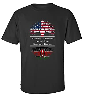 American Grown With Kenyan Roots Kenya Great Gifts - Adult Shirt L Black