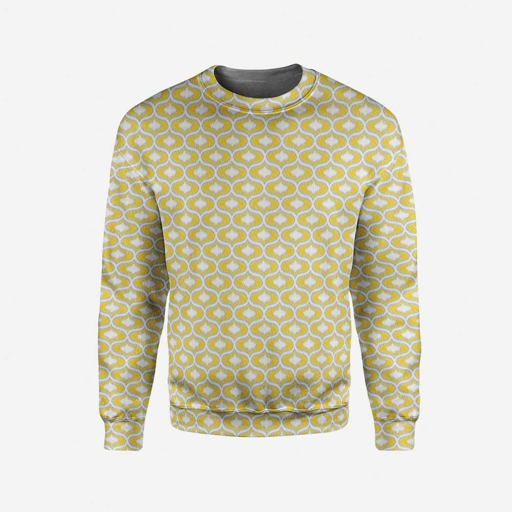 iPrint Mens Black and White Pullover Sweater