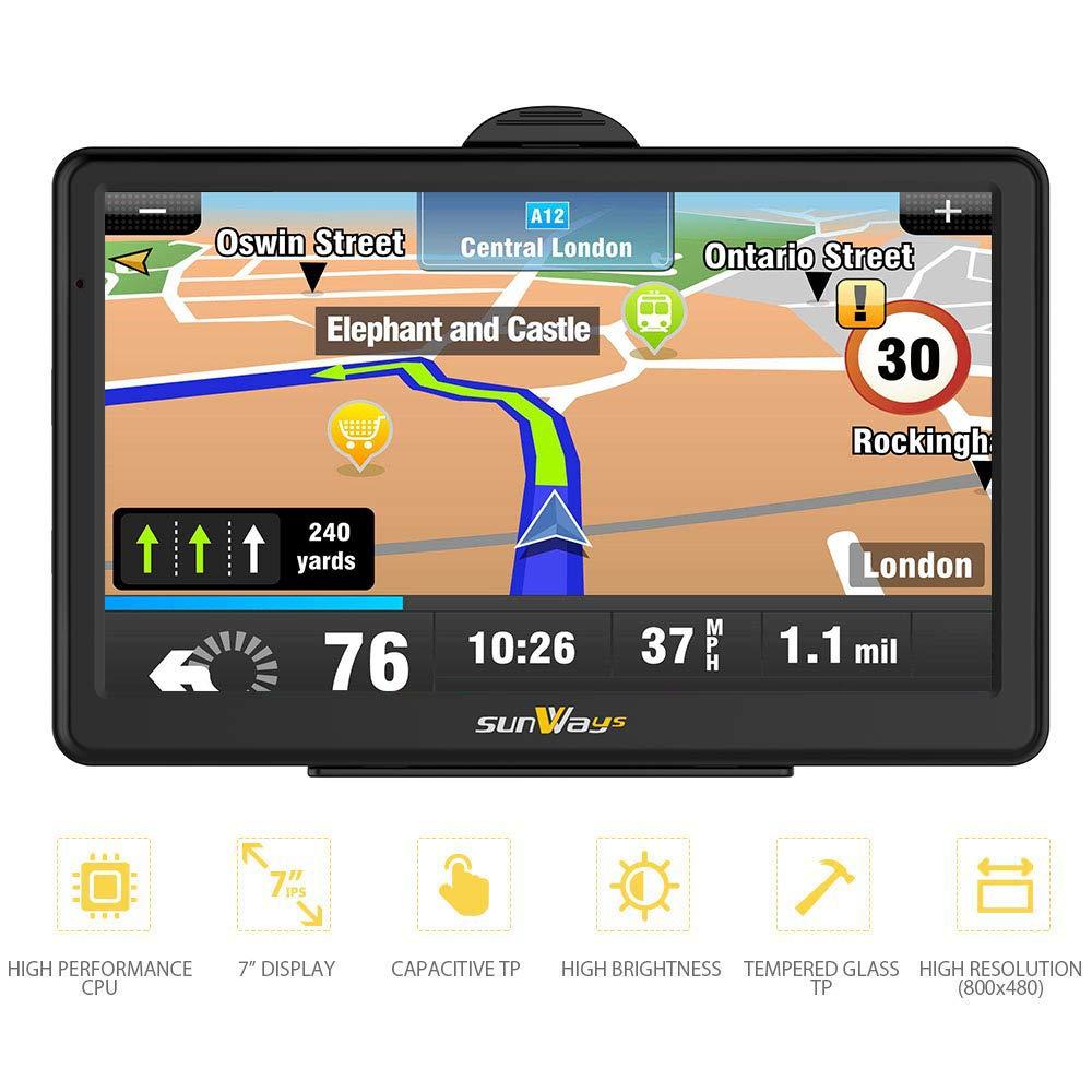 GPS Voiture Auto Europe 7 Pouces Ecran Tactile Cartographie Europe 52 à Vie Mise à Jour Gratuite à Vie