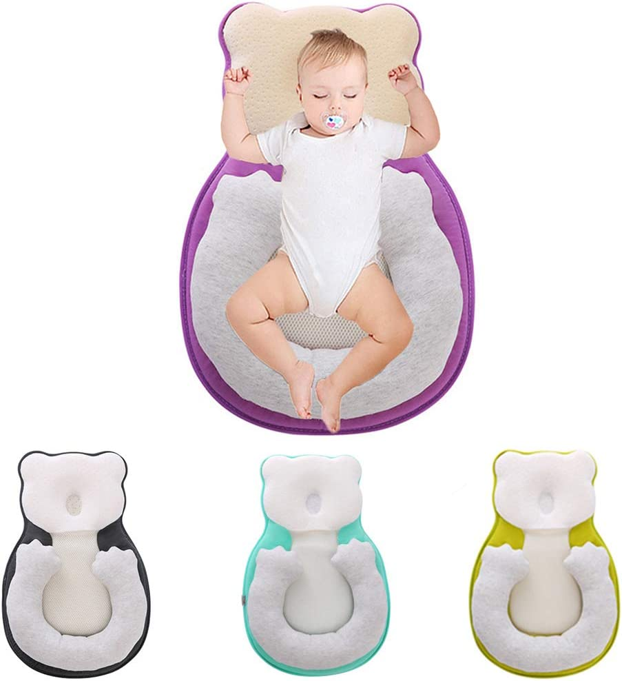 ZXLLO Babykissen Unisex S/äuglingsunterst/ützung Neugeborene Liegekissen Netter B/ärenkomfort Neugeborenes Nest Nest Tragbare Zwischen 0 bis 12 Monate