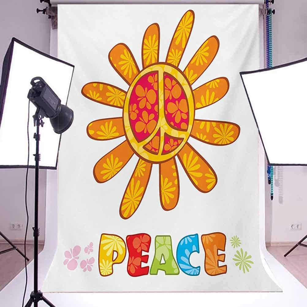 Groovy 10x15 FT Photo Backdrops,Peace with Original Nature Flower Design More Empathy for The Earth Moral Theme Background for Baby Shower Birthday Wedding Bridal Shower Party Decoration Photo Studio