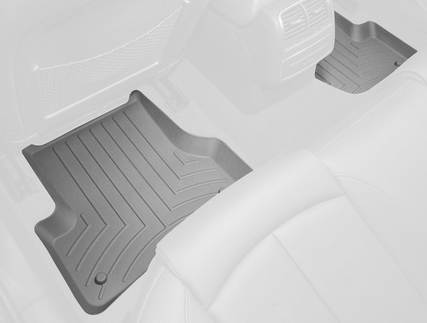WeatherTech Custom Fit Rear FloorLiner for Chevrolet Avalanche Grey 460663