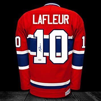 quality design 476f3 f3652 Signed Guy Lafleur Jersey - Autographed NHL Jerseys at ...