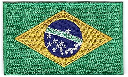 Embroidered Brazil Brazilian Flag Sew or Iron on Patch Biker Patch