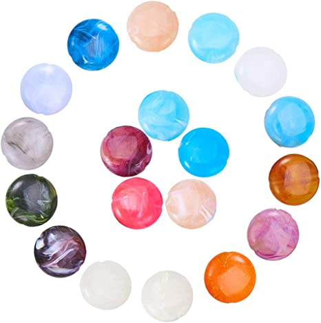 50 Round Faceted Acrylic 6mm Beads Spacers Mixed Colours Jewellery making