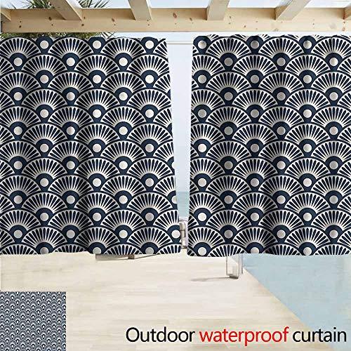Steelers Ceiling Fan Decor - MaryMunger Rod Pocket Blackout Curtain Panels Geometric Ancestral Fan Design Rod Pocket Curtain Panels W63x72L Inches