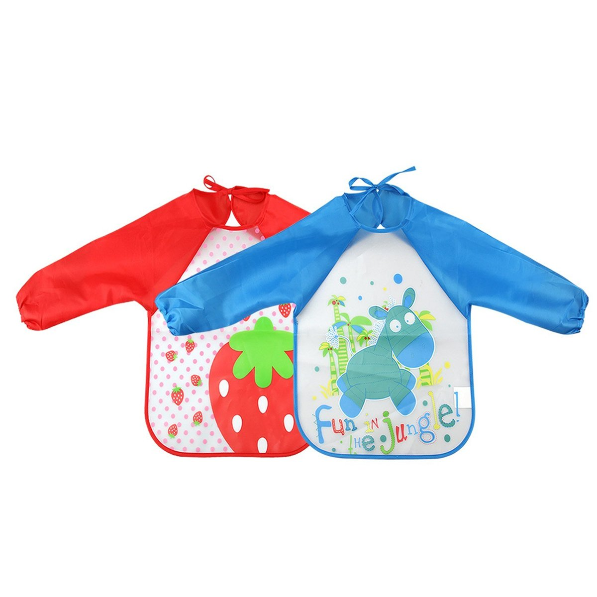 DierCosy Kids Painting Aprons Waterproof Art Smock with Long Sleeves for Toddler PHTL