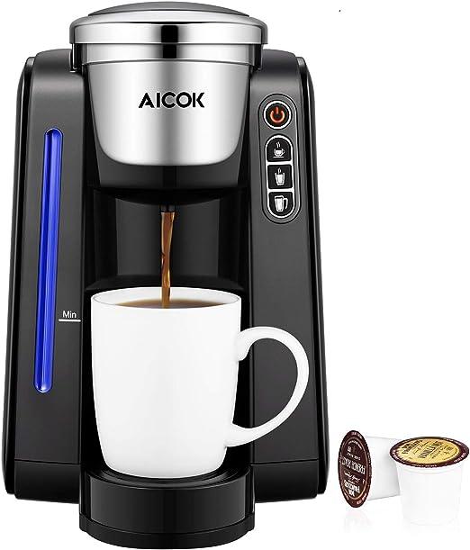 aicok único servir cafetera eléctrica, taza cafetera eléctrica con ...