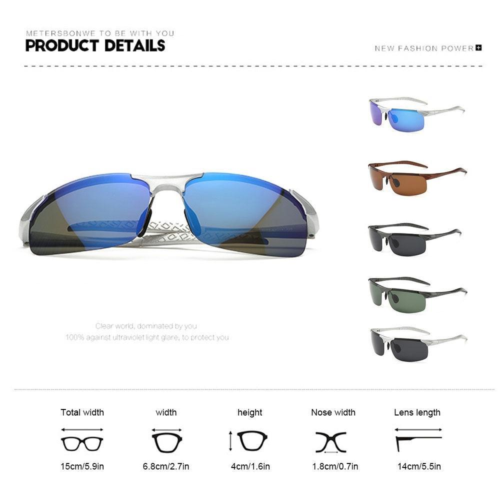 Teepao 2018 Polarisierte Sonnenbrille für Mann und Frau aus Aluminium, mit Auto-Sonnenbrille für Angeln Golf 8177, Sandbraun