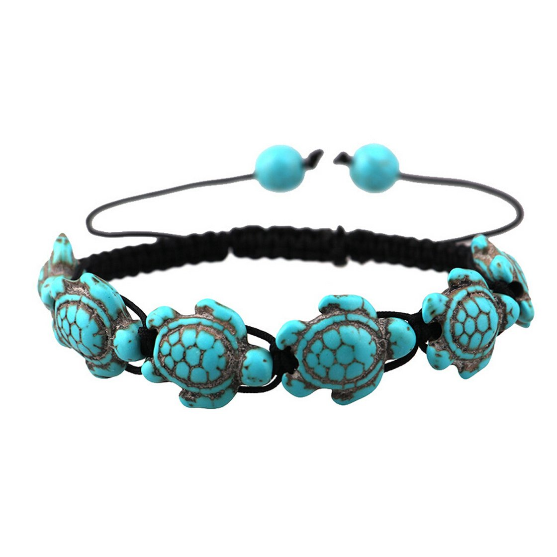 Meolin Bohemian Turquoise Turtle Adjustable Bangle Bracelet