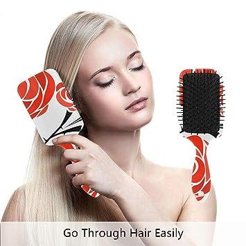 Drawing Rose Detangle Hair Brush Cushion Amazoncom