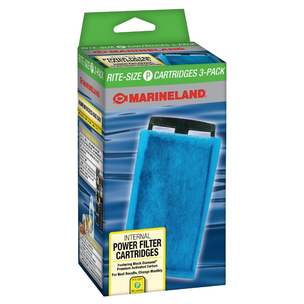 (3 Pack, P- Green) Marineland Rite-Size Penguin Power Filter Cartridges