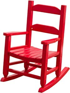 B&Z KD-21R Rocking Kid's Chair Wooden Child Toddler Patio Rocker Classic White Ages 3-6