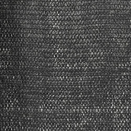 プライバシーネットHDPE 1x50 mブラックホームガーデンローンガーデンアウトドアリビングアウトドアパラソルサンシェード