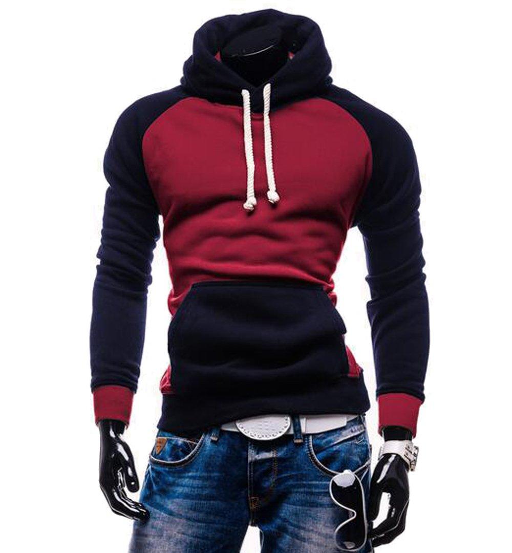 Rouquyanq Men Hoody Sweatshirts Hip Hop Fashion Slim Hoodies Men Hooded Cloak Sudaderas Hombre Casual Hoodie Sweatshirts at Amazon Mens Clothing store:
