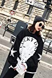 kitchen 67 coupons [Coupons] 10 yuan new autumn and winter new casual pullover sweater personalized letters black and white blouse for women girl