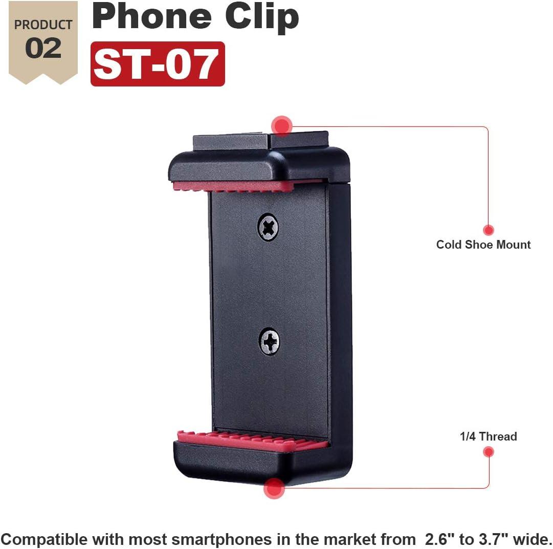 Coodio Smartphone Video Kit Microphone Tripod Vlog Kit Mini Tripod Vertical Shooting Phone Mount Kit 3.5MM Jack Video Audio Record Stand