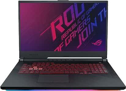 "ASUS ROG 17.3"" FHD Gaming Laptop Core i7-9750H 24GB RAM 1TB SSD+1TB HDD, GTX 1660 Ti 6GB, Hexa-Core up to 4.50 GHz, RGB Backlit Keyboard, RJ-45 LAN, USB-C, 1920x1080, Wi-Fi, Bluetooth, Win 10"