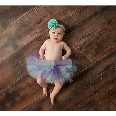 Fotografía Prop para bebé niña 0 – 3 meses falda tutú para recién ...
