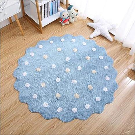 Alfombra de juego para bebés Alfombra redonda de algodón puro Alfombra infantil para niños Alfombra de gateo para decoración del hogar: Amazon.es: Bebé