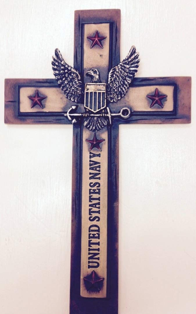 United States Navy Cross 12''x 7'' Military Wall Hanging Decor