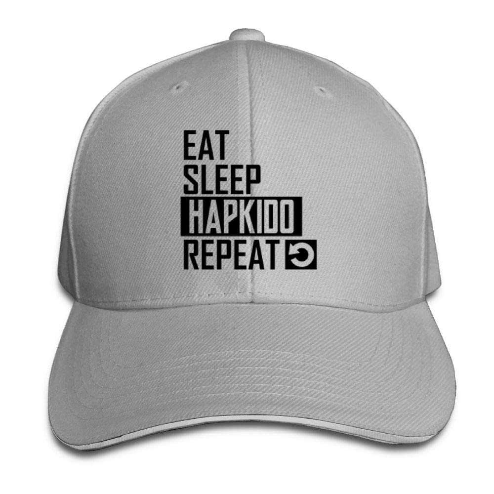 BUSEOTR Eat Sleep Hapkido by 2018 Baseball Caps Adjustable Back Strap Flat Hat