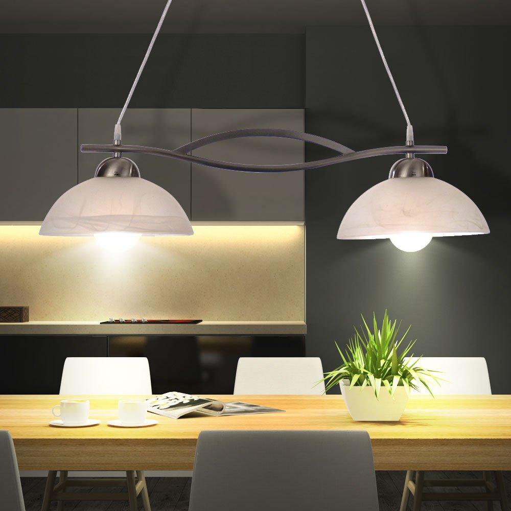 Licht Esstisch 19 watt led decken pendel leuchte hänge le alabasterglas weiß