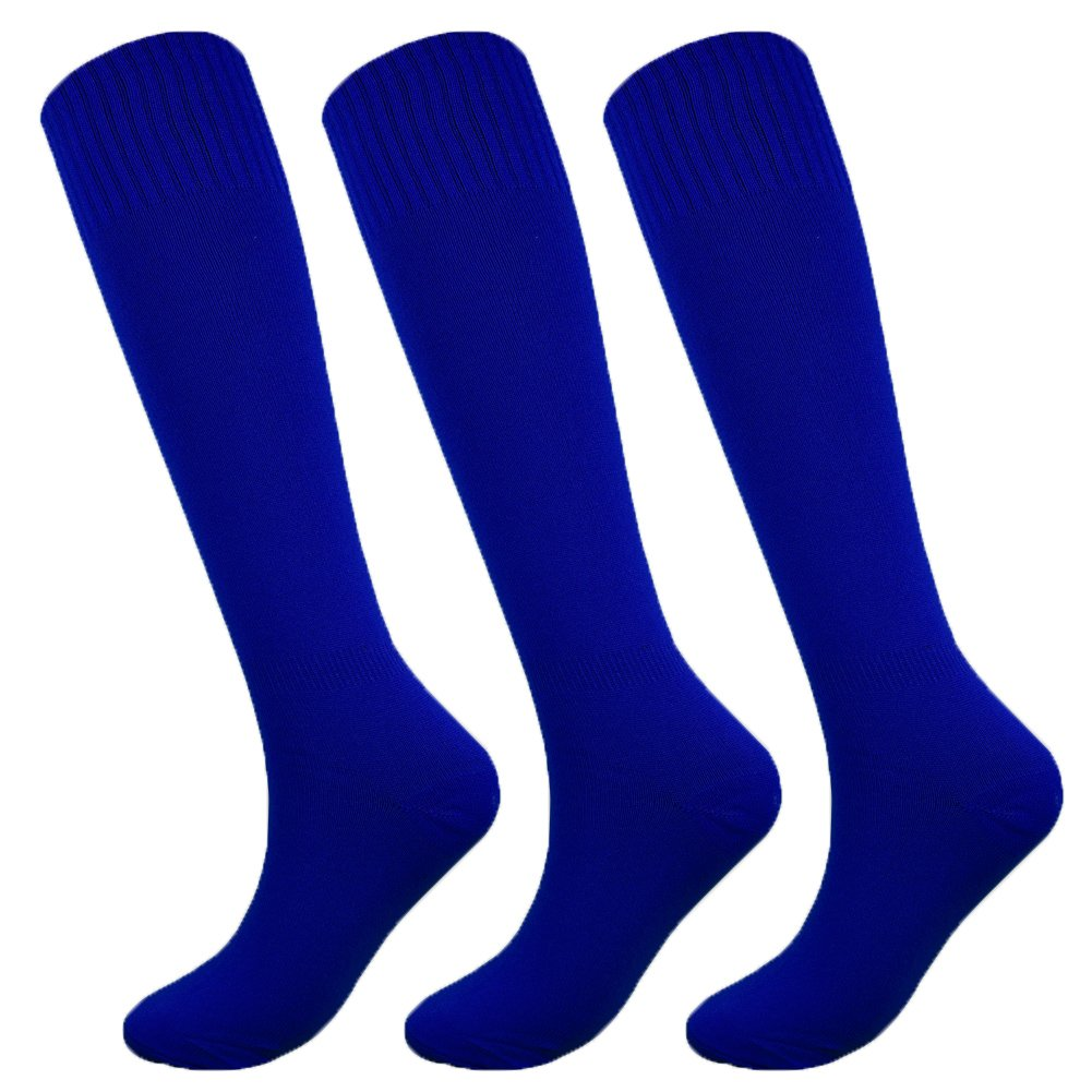 Fitliva Tube Dresses Adult Hockey Apparel Men Cosplay blue Sports Socks(3Pack-Blue) by Fitliva