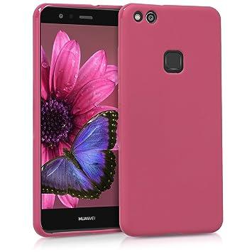 kwmobile Funda para Huawei P10 Lite - Carcasa para móvil en [TPU Silicona] - Protector [Trasero] en [Fucsia Mate]