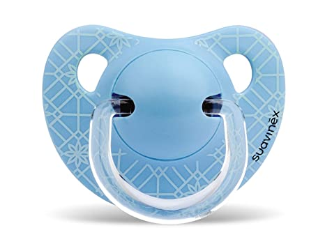 Suavinex - Chupete Tetina Anatómica Látex. Chupete 0-6 Meses. 0% BPA, Diseño Panda Color Azul