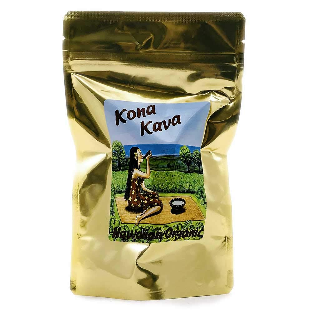 Kona Kava Farm Premium Instant Kava Mix 9 Kavalactone Kava Root Extract Supplement Drink Mix For Stress and Anxiety Relief Available in Chocolate and Banana Vanilla Cocoa, 8 oz