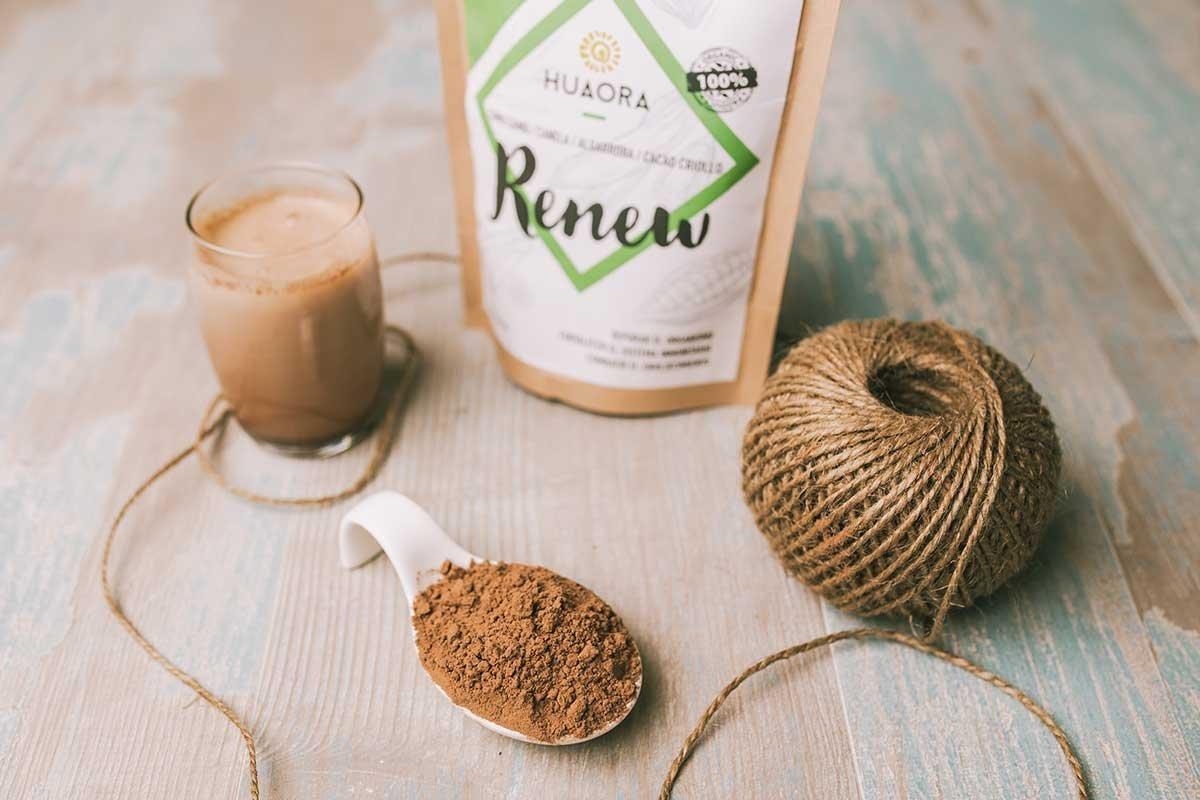 Huaora Renew - reducir el estrés, reactivar el organismo, reforzar el sistema inmunitario - Sin Gluten, Soya ni Lactosa - 250 gr.