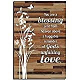 Blessing Wood Plaque with Words Quotes 6 x 9 Inch – Modern Vertical Wooden Rustic Frame Art Wall or Tabletop Decoration for Home and Office | ''You are a Blessing Sent from Heaven Sayings''...