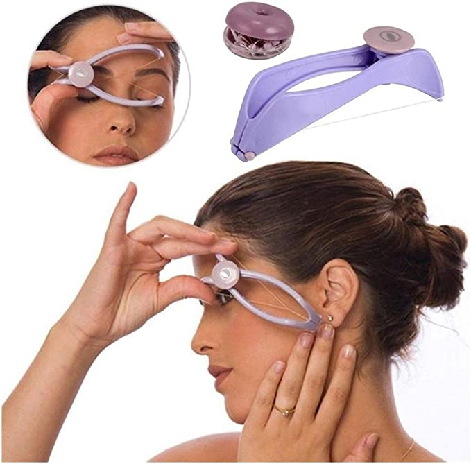 Amazon.com: Samuknight Women Facial Hair Remover Spring Threading Epilator Face Defeatherer DIY Makeup Beauty Tool for Cheeks Eyebrow (Color : Purple): Home & Kitchen
