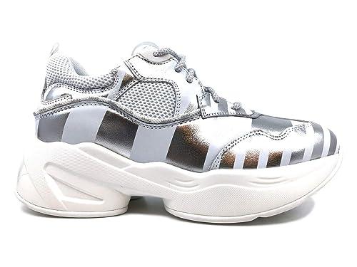 Liu Jo Jeans - Zapatillas de Cuero para Mujer * Blanco Size: 36 EU