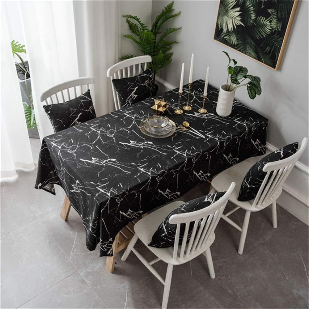 Esperando por ti FPMFQIG Mantel de mármol Negro para para para el hogar Hotel Table Cover Multifunción Tela Impresa Nappe  lo último