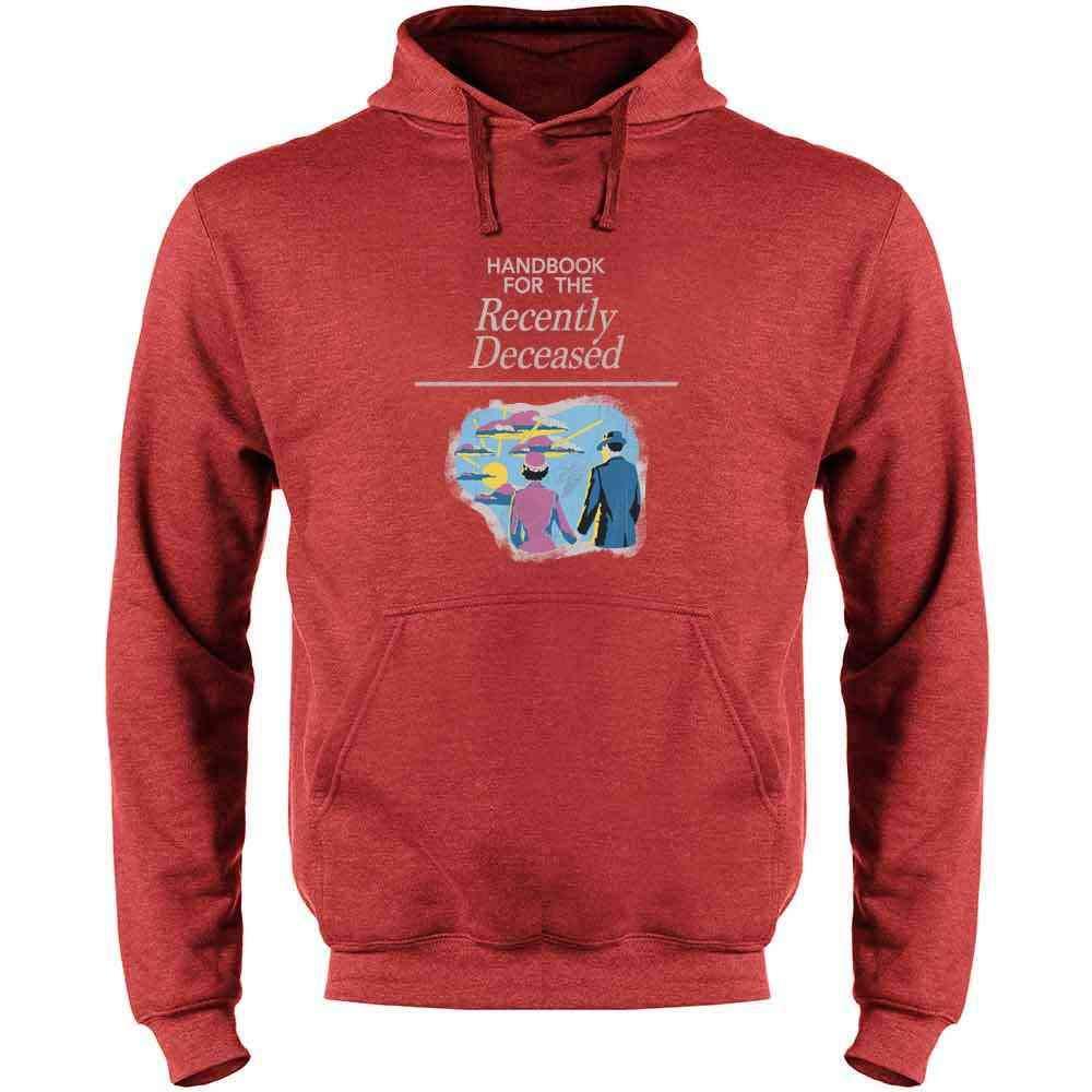 Pop Threads Handbook for The Recently Deceased Halloween Mens Fleece Hoodie Sweatshirt