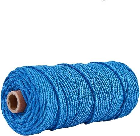 Cordón de macramé, cuerda de algodón natural, cuerda de tejer ...