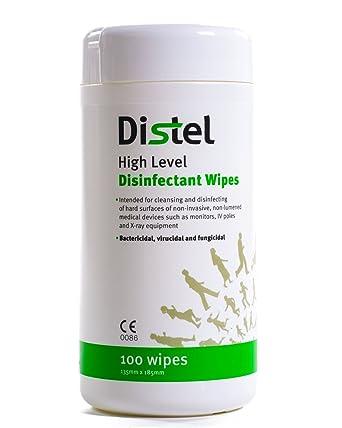 Distel alto nivel desinfectante toallitas 100 toallitas