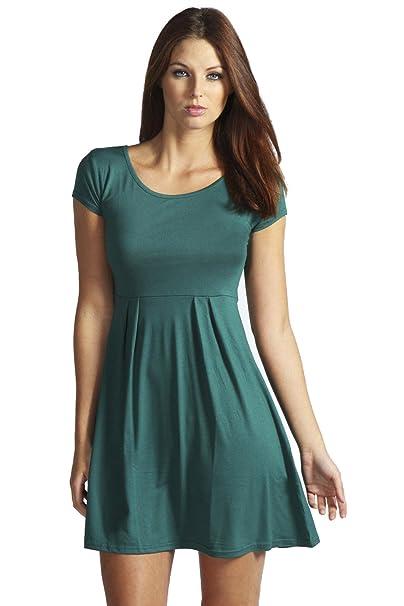 YourPrimeOutlet - Vestido - para mujer verde verde botella 34