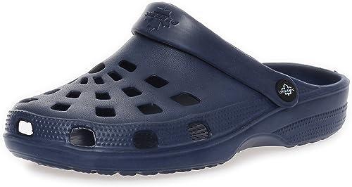 Zuecos Hombre Zapatillas Baño Zapatos del Jardín Sandalias Pantuflas Mocasines Arrastrar IR a Pie CL 00260 - Azul Marino, 41 EU: Amazon.es: Zapatos y complementos