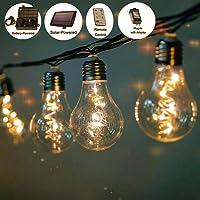 Brinlheart 36FT LED Solar Powered Waterproof String Lights
