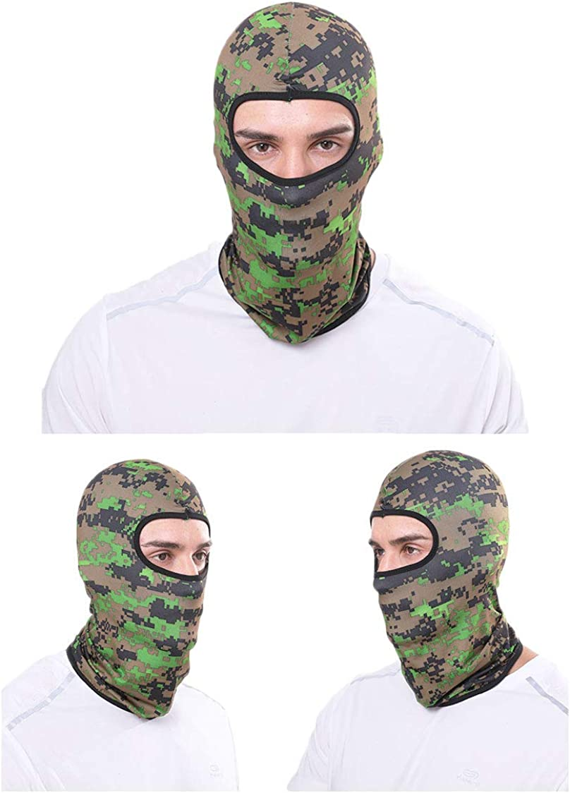 Yogwoo Balaclava Face Maska Bandanas for Men Headbands for Women UV Protection Headwear Breathable Face Cover for Fishing Hiking Cycling