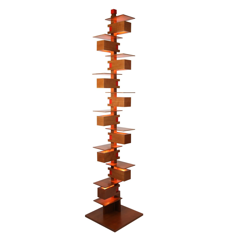 Frank Lloyd Wright – Taliesin 2 Floor Lamp – Cherry Wood