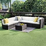 Cheap Wisteria Lane Outdoor Conversation Set Patio Furniture, 7PCS Outdoor Gray Wicker Sofa Set Sectional Furniture Set