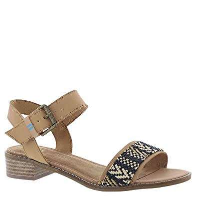 14bb83818f3 TOMS Women s Camilia Honey Leather Geometirc Woven 5 ...